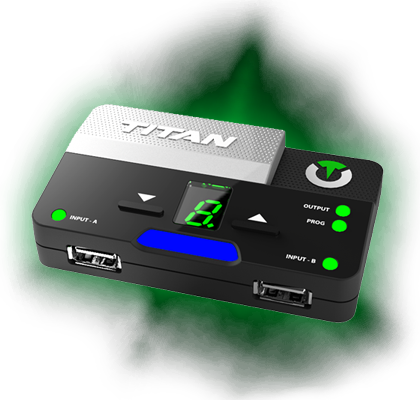 Titan Two is an all-in-one gaming device that combines features of dozens of products in a single form factor.